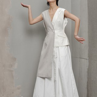 Asymmetrical Structure Long Vest