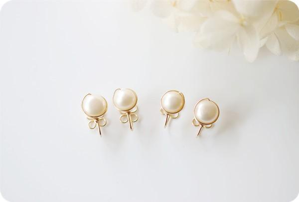 Non-Hole Pierce of Large Keshi Pearl June Birthstone Earrings not painful