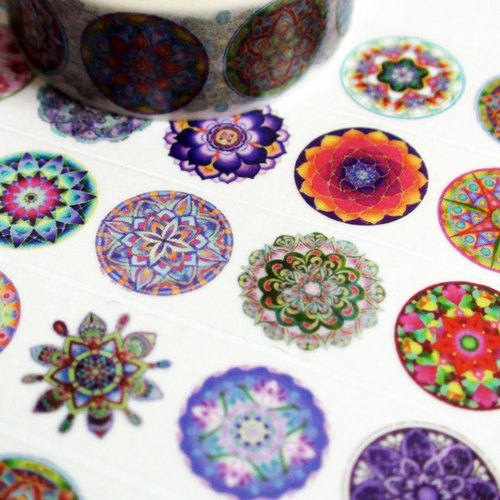 Sample Washi Tape Healing Mandala
