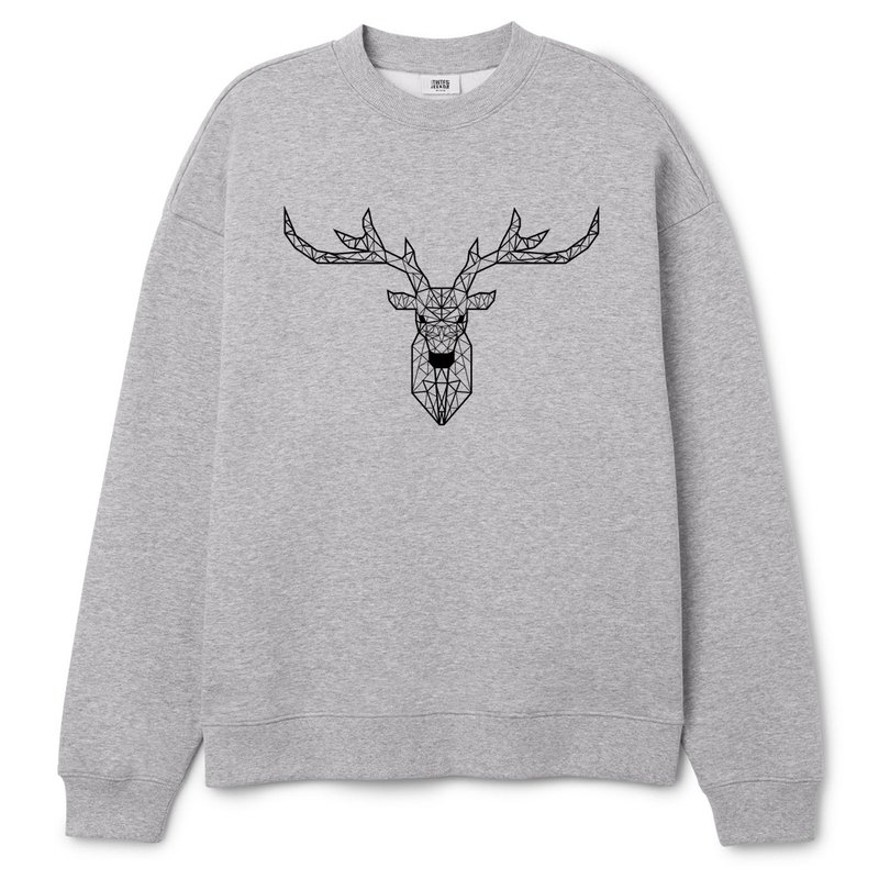 Deer Geometric University T bristles neutral version of the gray geometry Deer Universe design own brand Milky Way trendy round triangle