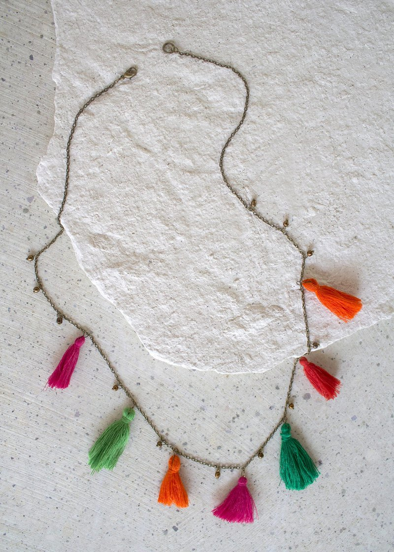 Shakti Necklace - Inspired by the colorful sari of the women in India