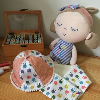 Handmade Floral baby/ kid scarf and hat gift set
