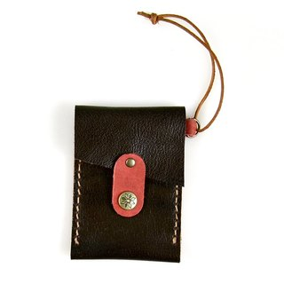 [U6.JP6 handmade leather] - pure handmade imported leather pink-purpose card sets / travel card sets / credit card sets for men and women