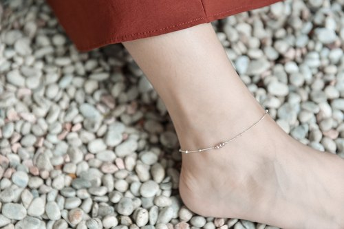 Natural Purple Pearl Bead Anklets