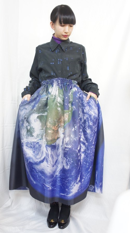 Earth print skirt