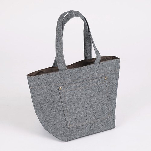 Outer Pocket Tote Bag - Denning Grey