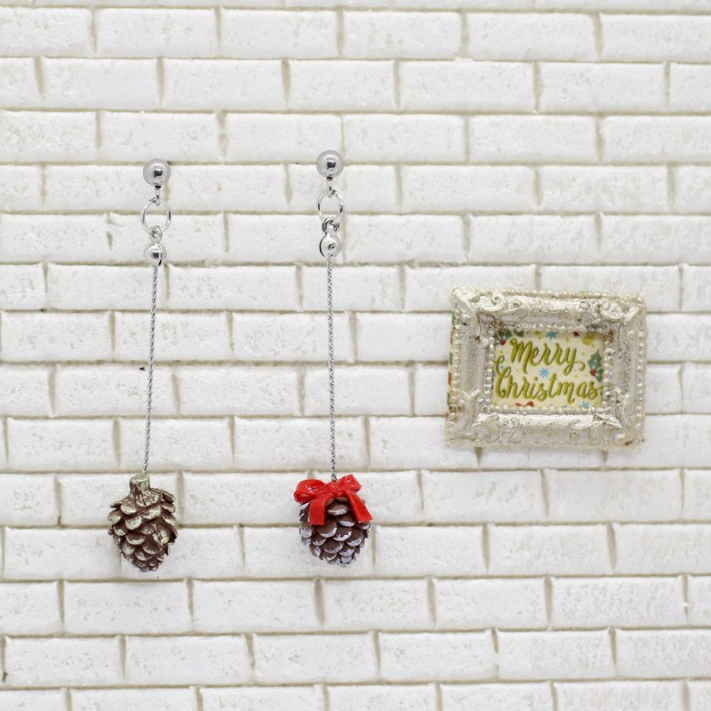 Christmas Pine Cone Earring Set