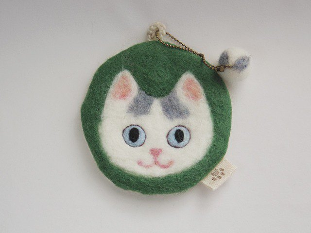 Cat face felt have various usage -grey van pattern-