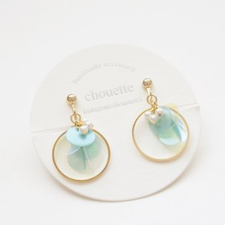 【14 kgf】 sequin hoop earring mint