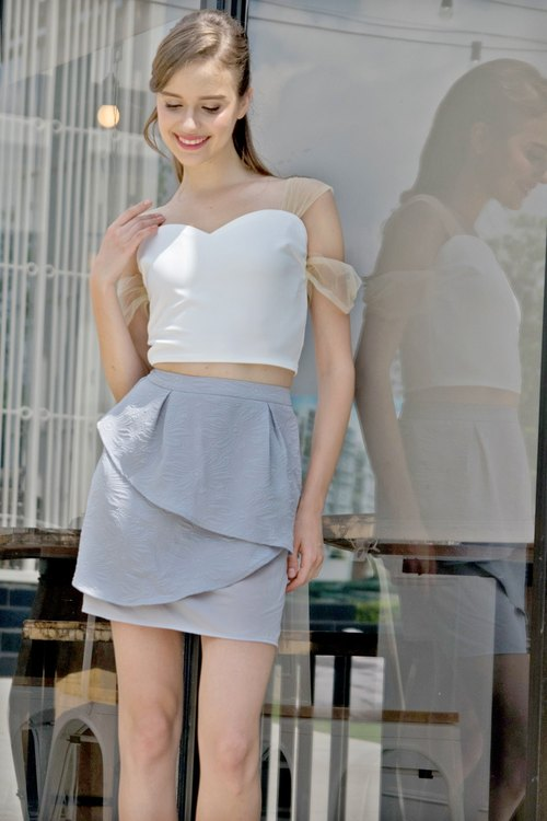 Layers Romantic Skirt (Grey)
