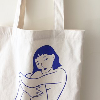 Naked Lady Tote Bag (White)
