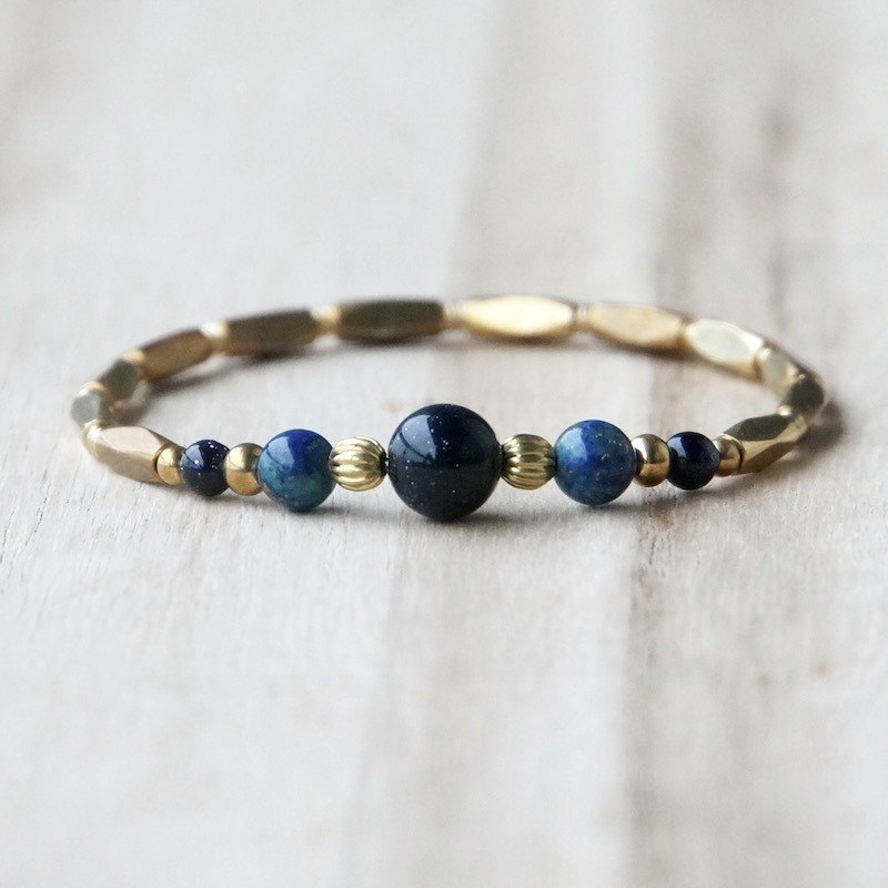 ITS-B901 [natural stone series, origin] brass bracelet.