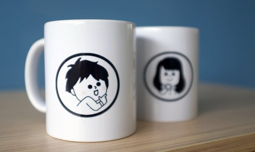 Custom Portrait/Q Portrait. Portrait_Mug - One pair