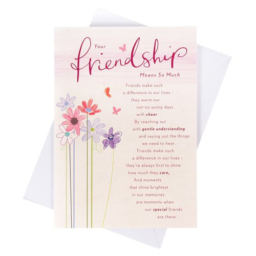 You are really a best friend [Hallmark-Card Friendship and Lasting]