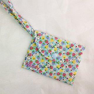 Panda Garden. Sanitary cotton bag (free embroidered name)