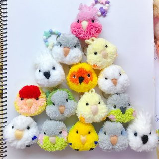 Mini hair ball parrot pin pendant child hairpin bird