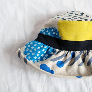 Japanese curling fisherman hat / bloom
