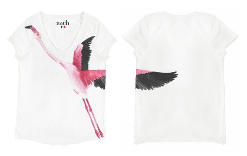 Flamingo Tee (Size Small) Nach Bijoux French Design Animals Summer