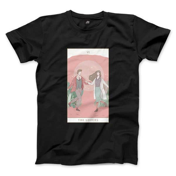 VI | The Lovers - Black - Unisex T-Shirt