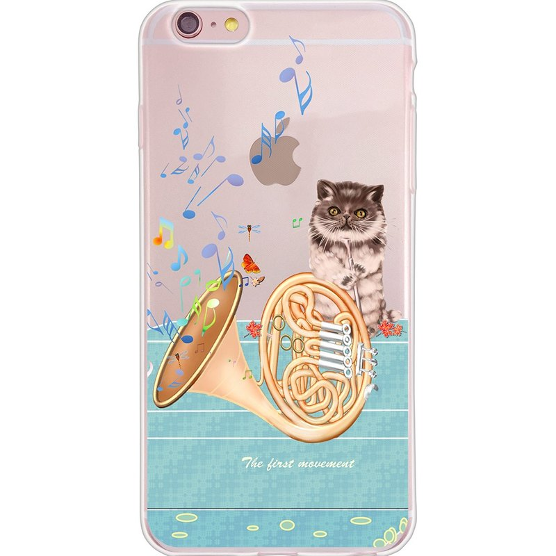 "New Year Series - [cat face years of French horn concerto] - Yi Dai Xuan -TPU phone case ""iPhone / ASUS / Samsung / HTC / LG / Sony / millet / OPPO"""