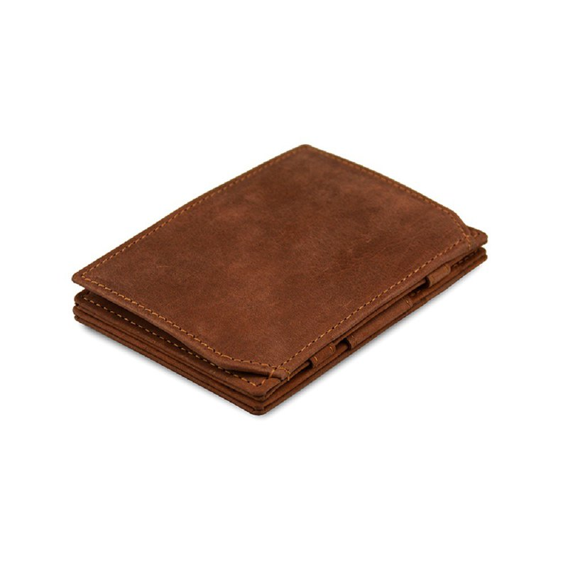 Belgium GARZINI flip wallet / change bag / dark brown