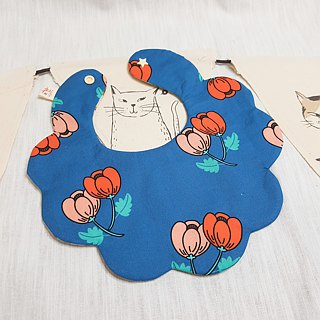 Animal rice ball small flower pocket / baby bib / saliva towel