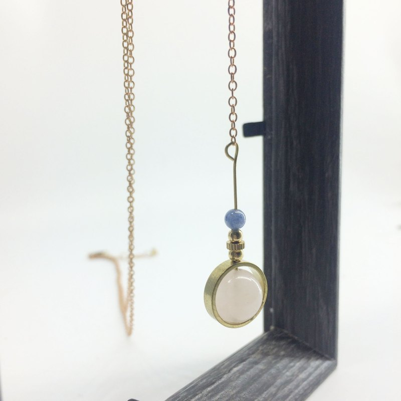 Laolin Grocery Travelin-Good luck Series Natural Stone Brass Long Chain Powder Crystal / Hailanbao