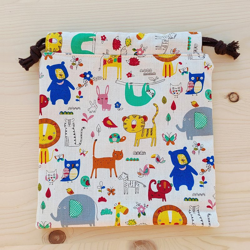 Doodle animal bundle pocket (large)