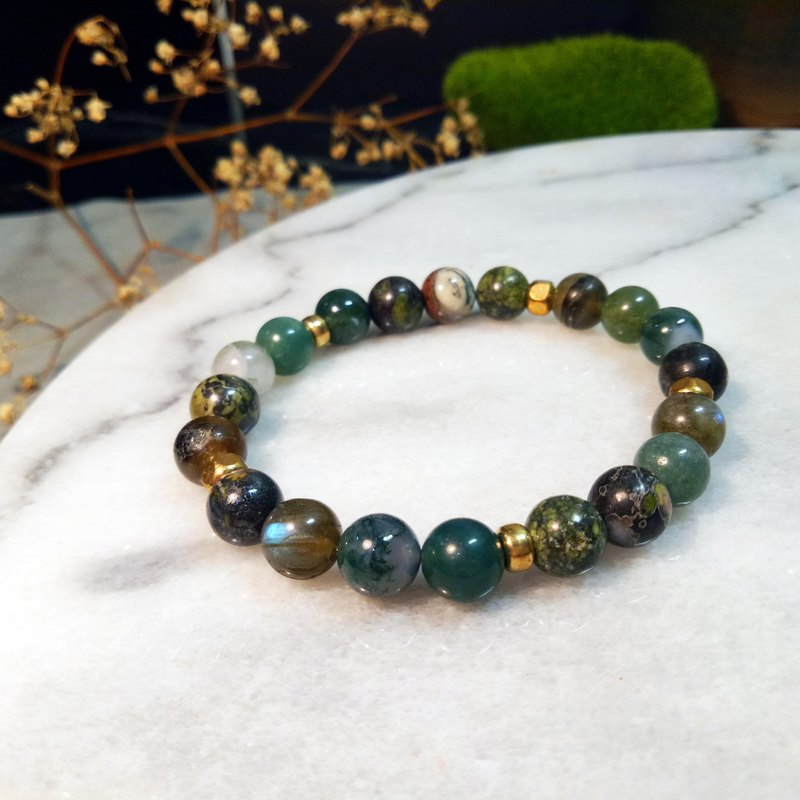 Tropical Rainforest / Natural Stone Bracelet