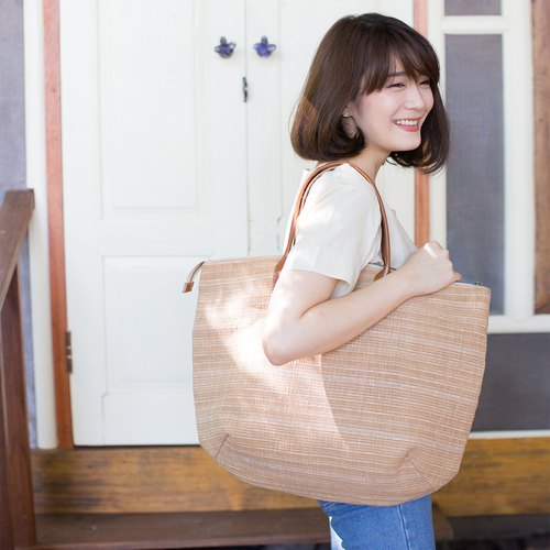 Oversize Sweet Journey Bags Botanical Dyed Cotton Natural-Tan Color