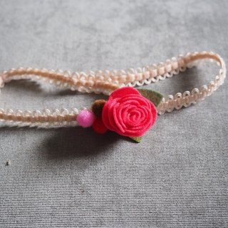 Gift idea: Handmade baby hairband with little red rose