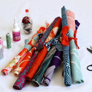 Japanese fabric set, kimono fabric, fabric scraps12 pieces【more than 15x15cm】