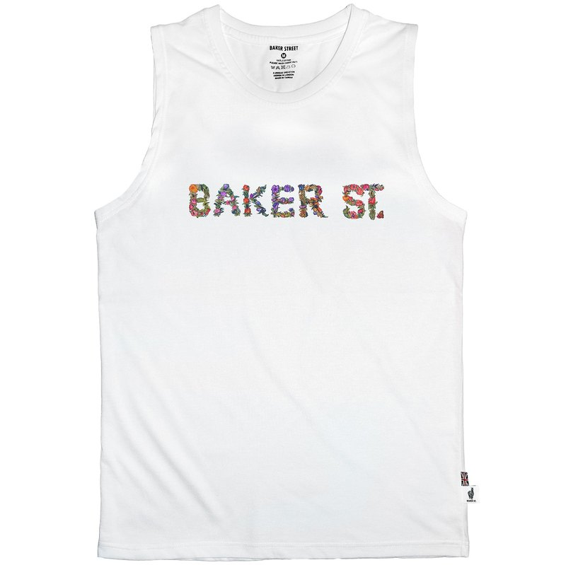 British Fashion Brand - Baker Street - Floral Letters Printed Tank Top