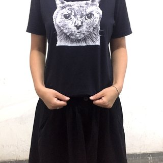 adc|party animals|tee|t-shirt|cat|black