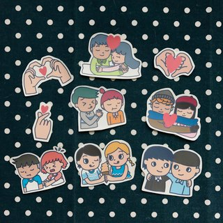 Stickers / couple size