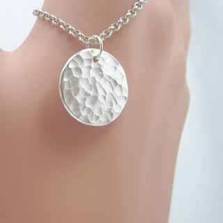 Z24 water ripple (can be typed) 925 sterling silver necklace. Customized English alphanumeric.