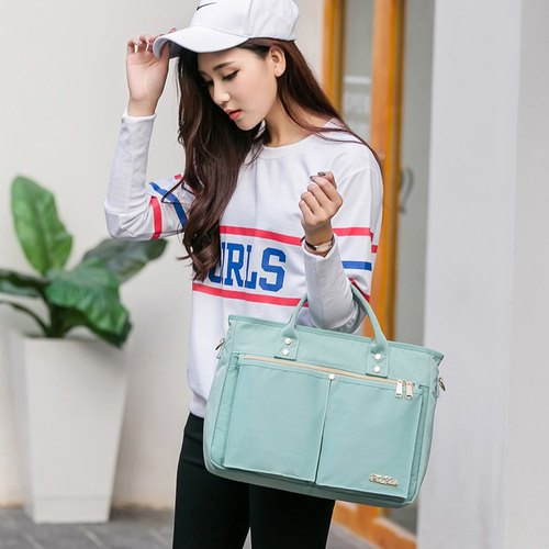 The Dude Hong Kong brand handbags computer bag handbag ultra light splashing Heroine - mint blue