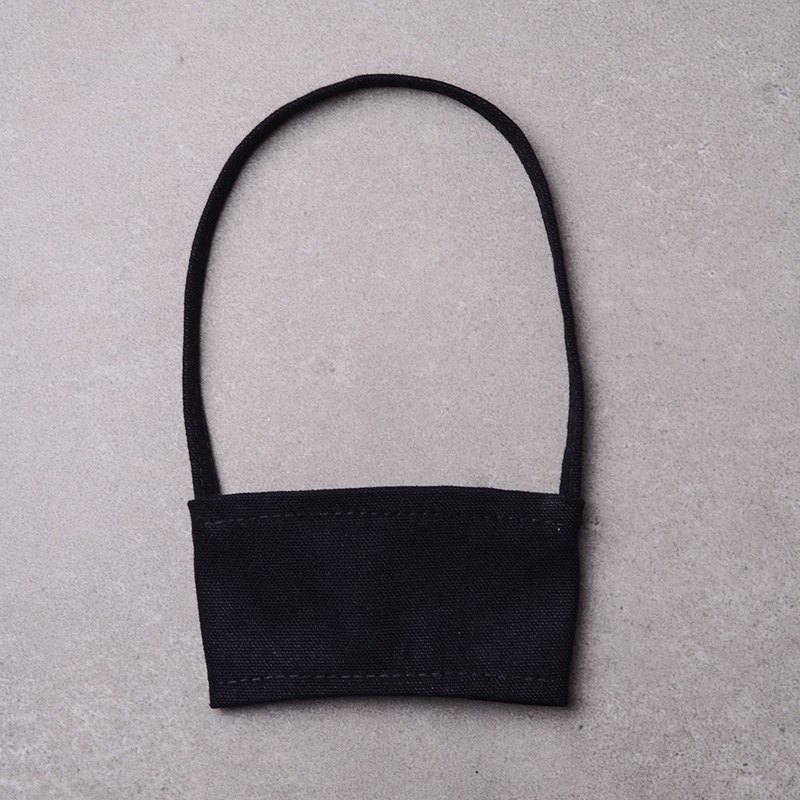 Eco-friendly canvas cup bag (black) 2/4/6 into the group