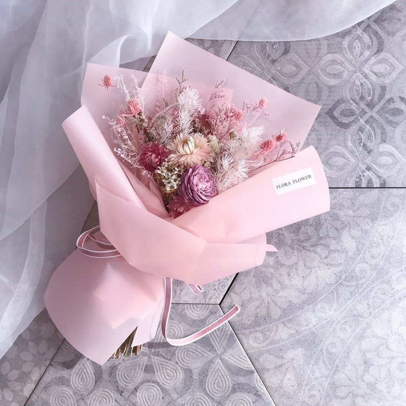 Pink Dry Bouquet / Medium Bouquet / Wedding Bouquet / Valentine's Day Bouquet / Dry Flowers