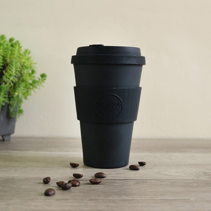 Immediately shipped [natural bamboo fiber] environmentally friendly accompanying cup 14oz blackout black