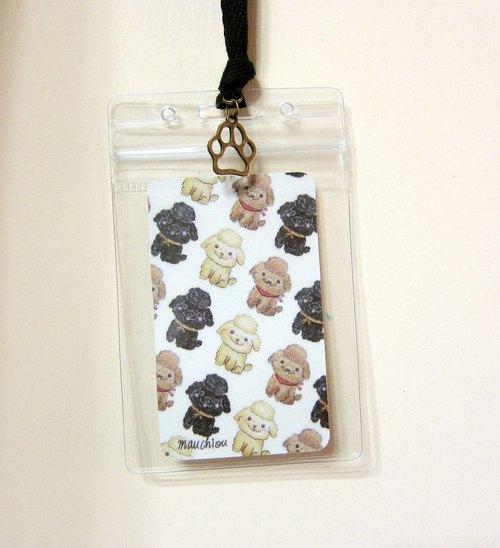 Luggage Tag ID Card Holder VIP Poodle