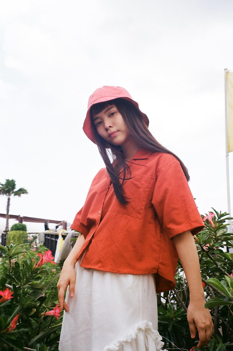 七分襯衫(紅色)