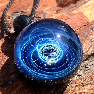 boroccus  A nebula  The galaxy image solid design  Thermal glass pendant.