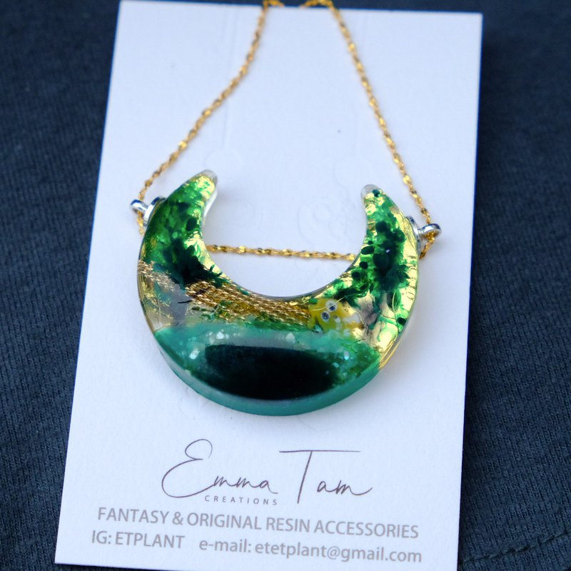 【猫の日光浴 】Sunshine in Forest- Silver Earrings by Emma