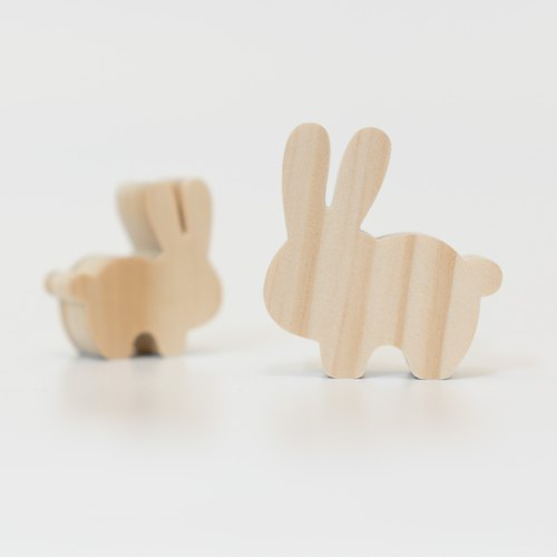 Thick Shaped Building Block Farm Series - Bunny Rabbit