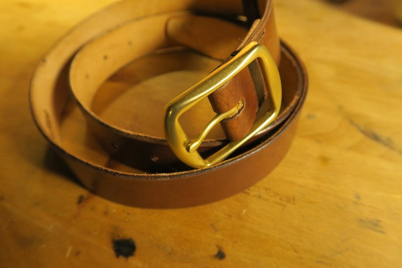 Golden Forest Classic Brown Wide Belt