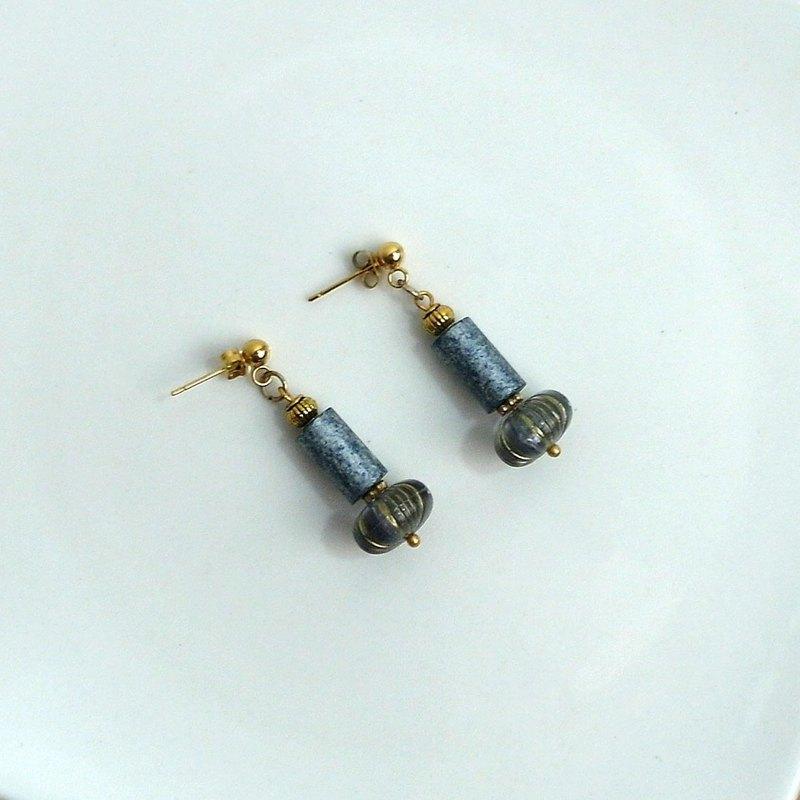傾城 復古 黃銅 | 耳環 耳夾