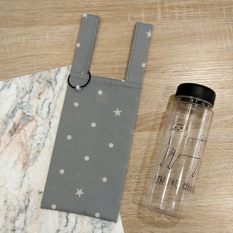Polaris, the North Star (Gray)。Handmade reusable bag for drinks and anything