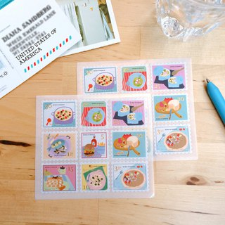 Di Mengqi On The Table Stamp Sticker Colorful