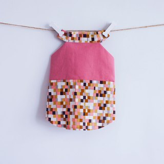Can be customized. Mosaic series pink shaved skirt dress pet clothes